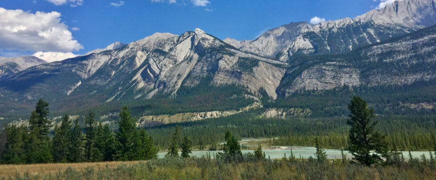Mountain view in Jasper, Alberta