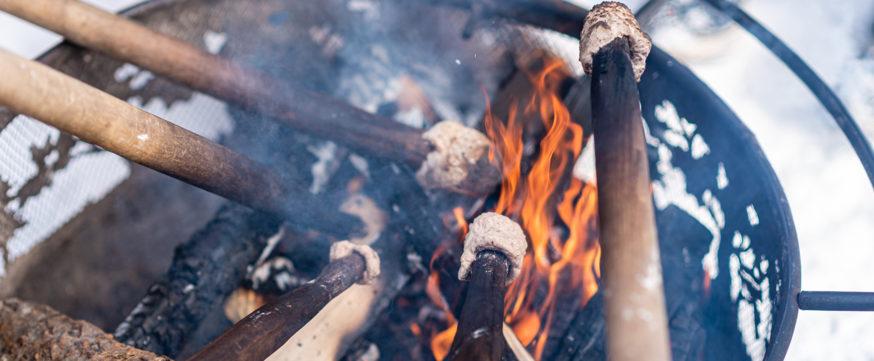 Campfire Bannok on a stick