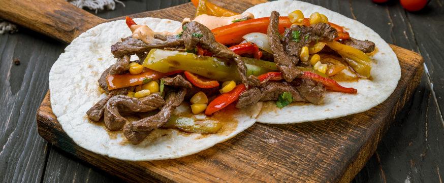 Fajitas with beef