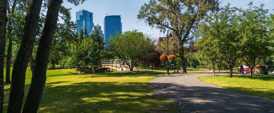view of Prince's Island Park, Calgary, alberta, canada